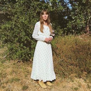 70's Floral Gunne Sax Prairie Dress